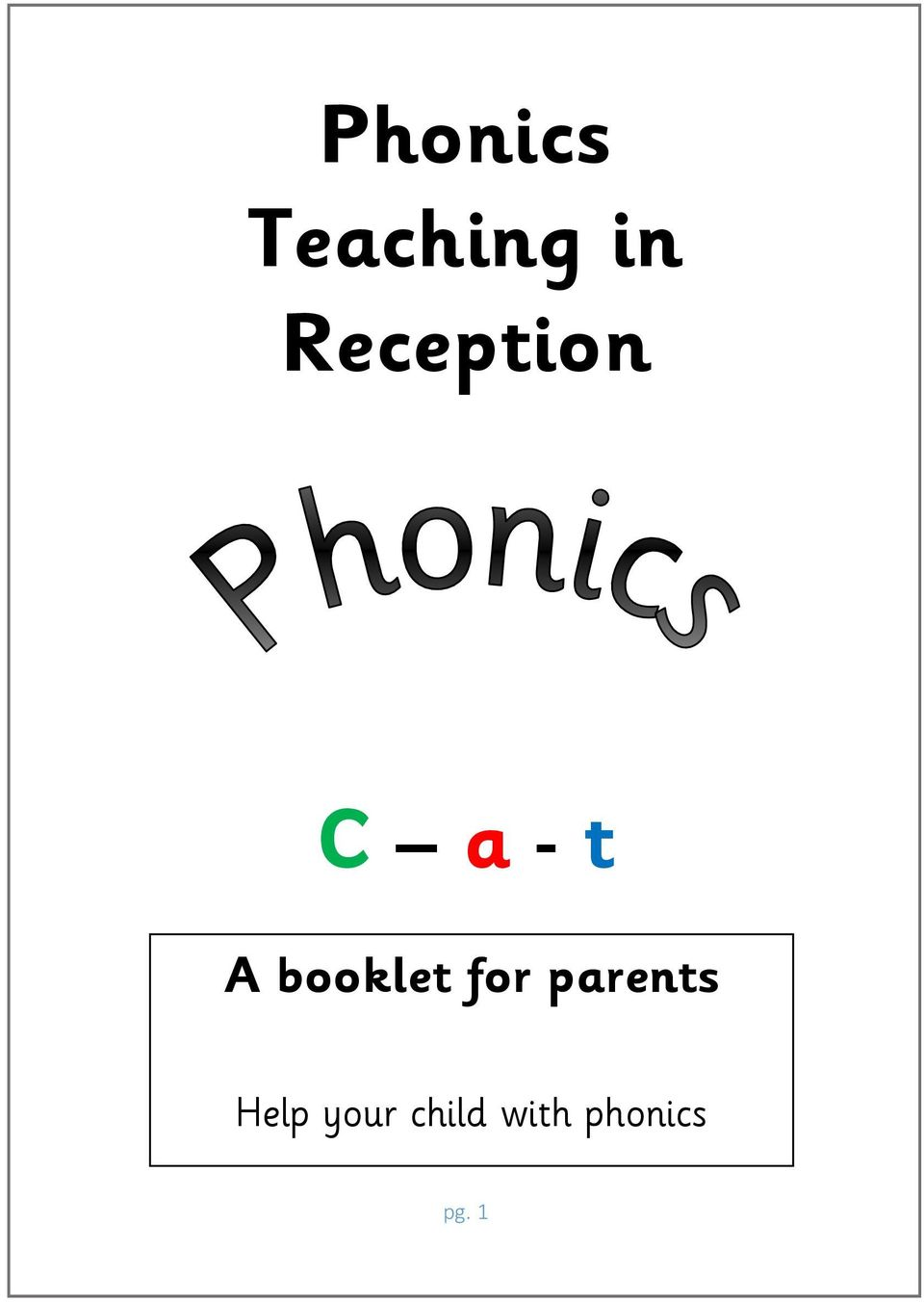 booklet for parents