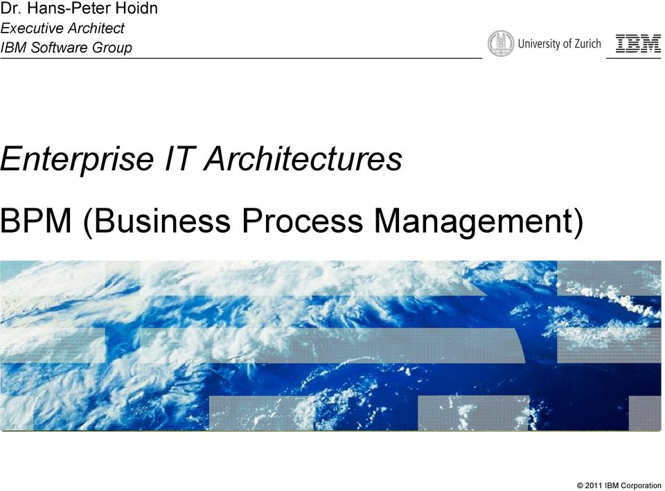 Enterprise IT Architectures