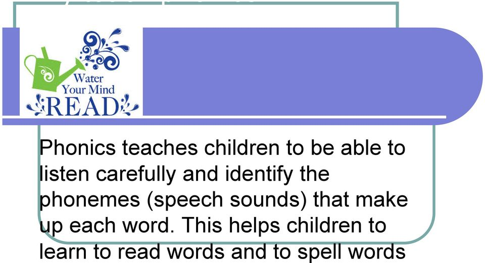 carefully and identify the phonemes (speech