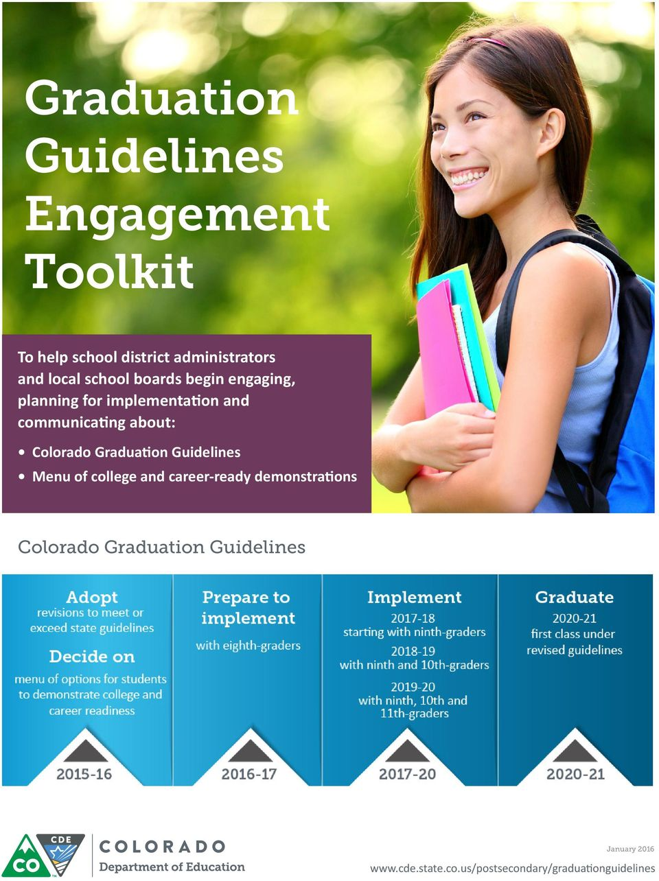 about: Colorado Graduation Guidelines Menu of college and career-ready