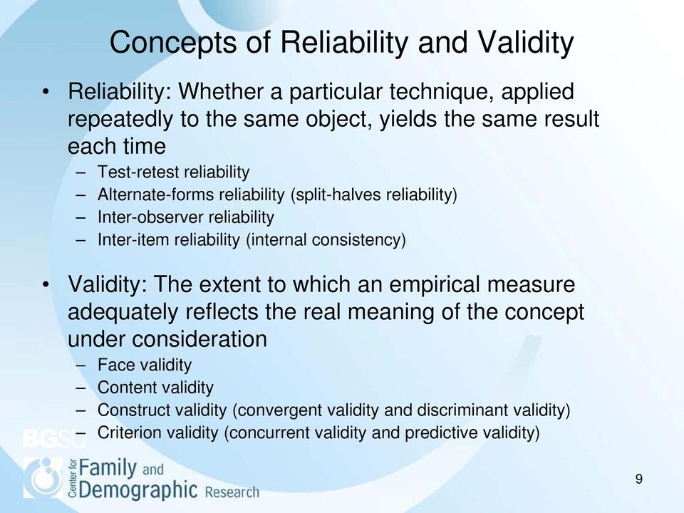 concepts of reliability validity and utility apply to the employee selection process Reliability and validity are two concepts that are does all this talk about validity and reliability mean you they have narrowed the selection.
