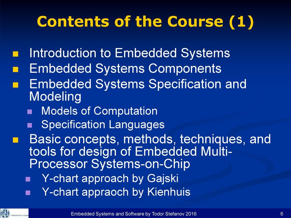 the basic concepts of embedded systems