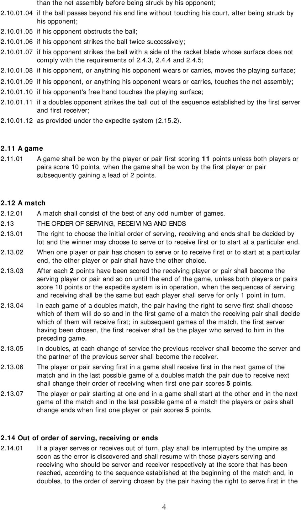 General rules for table tennis pdf for 10 rules of table tennis
