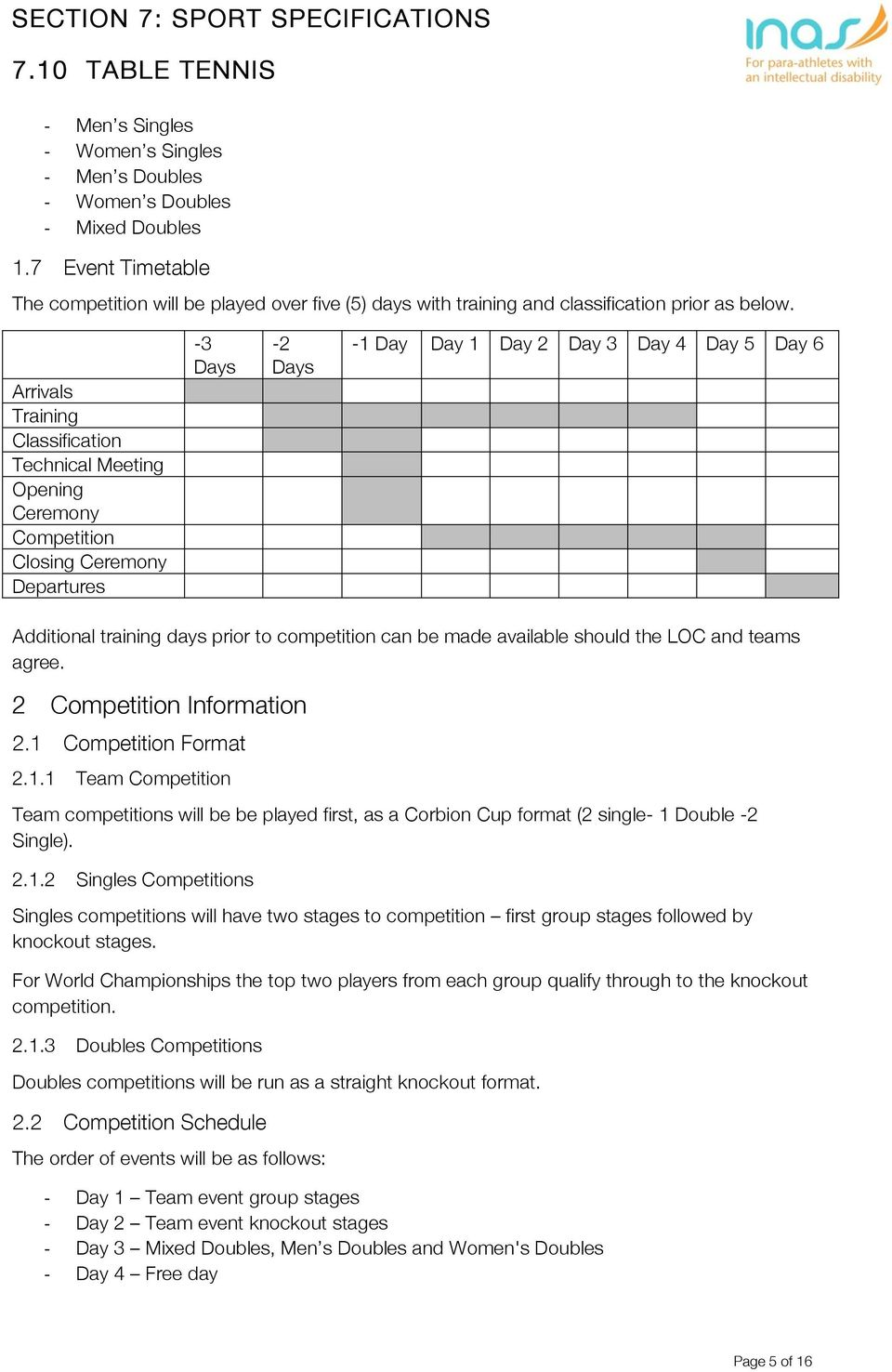 to competition can be made available should the LOC and teams agree. 2 Competition Information 2.1