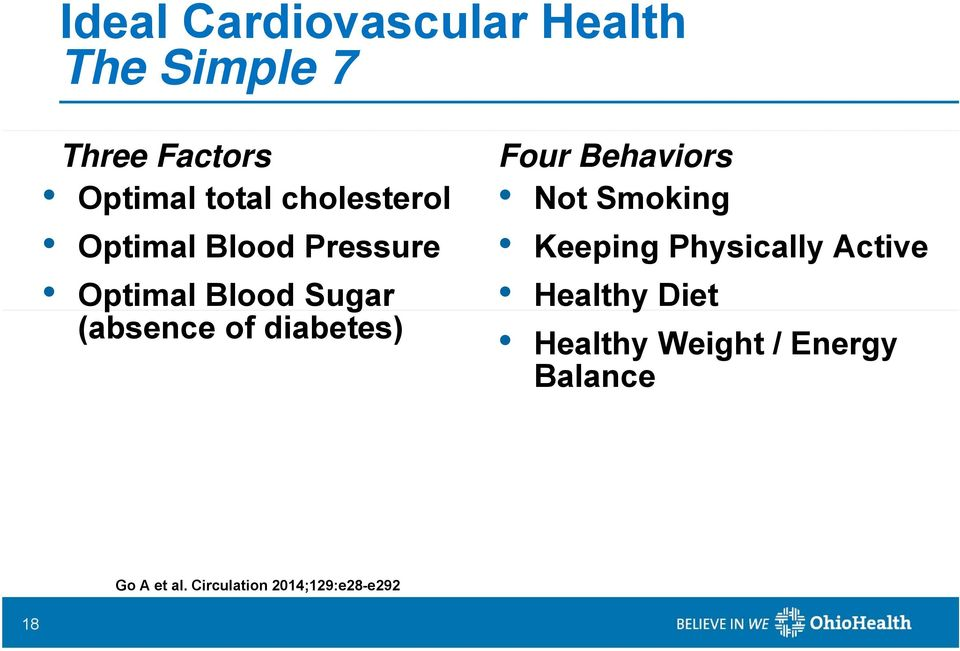 diabetes) Four Behaviors Not Smoking Keeping Physically Active Healthy