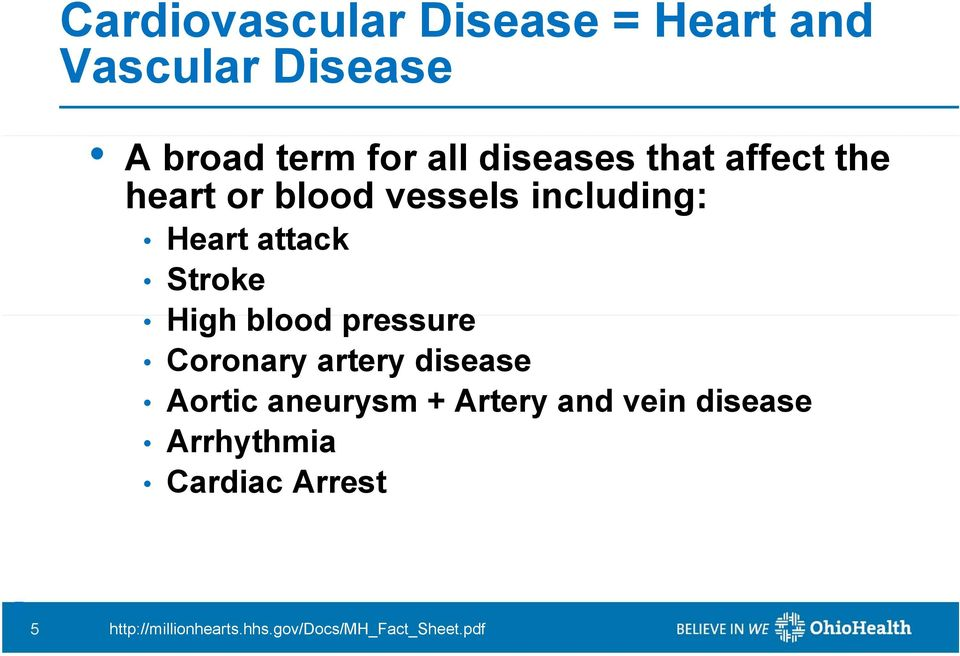 High blood pressure Coronary artery disease Aortic aneurysm + Artery and vein