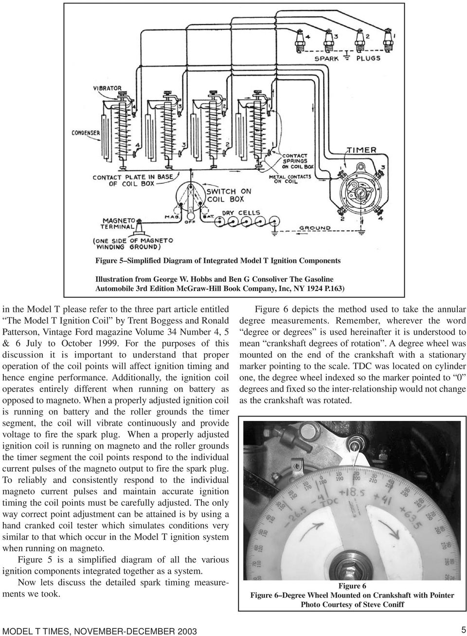 The Model T Ford Ignition System Spark Timing Pdf Honda Small Engine Points Coils Flywheel Diagram And Parts 163 In Please Refer To Three Part Article Entitled