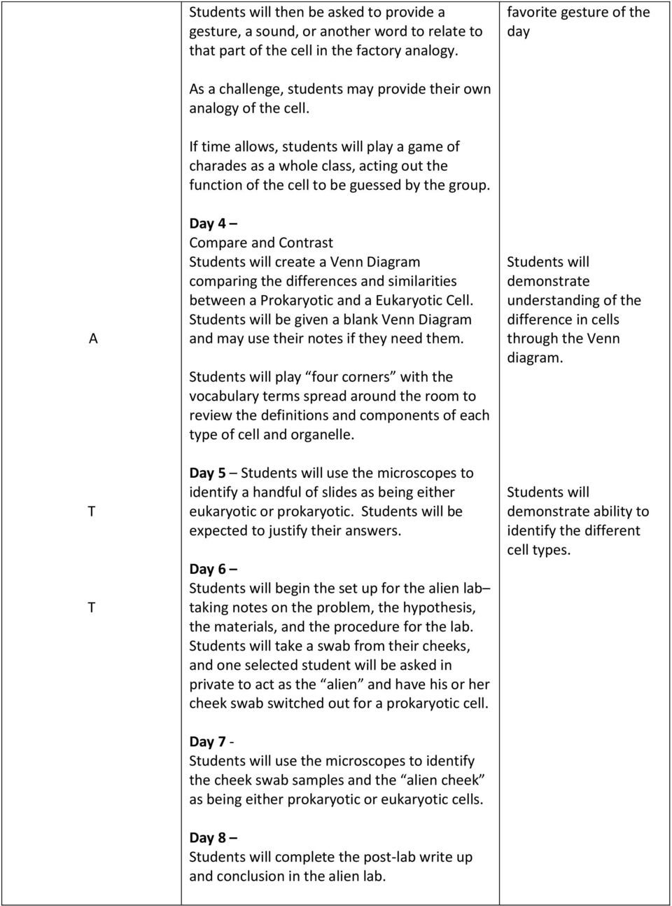 Prokaryotic and eukaryotic cells 6th grade pdf if time allows students will play a game of charades as a whole class pooptronica Choice Image