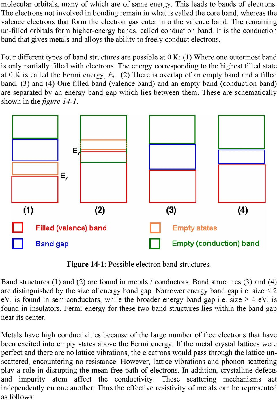 The remaining un-filled orbitals form higher-energy bands, called conduction band. It is the conduction band that gives metals and alloys the ability to freely conduct electrons.