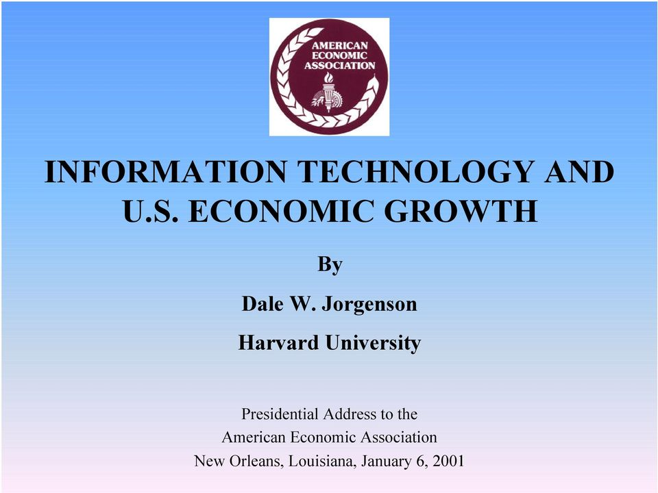 trade in information technology and us economic growth World trade organization  trade flows and economic growth our  in information technology, has helped to improve data.