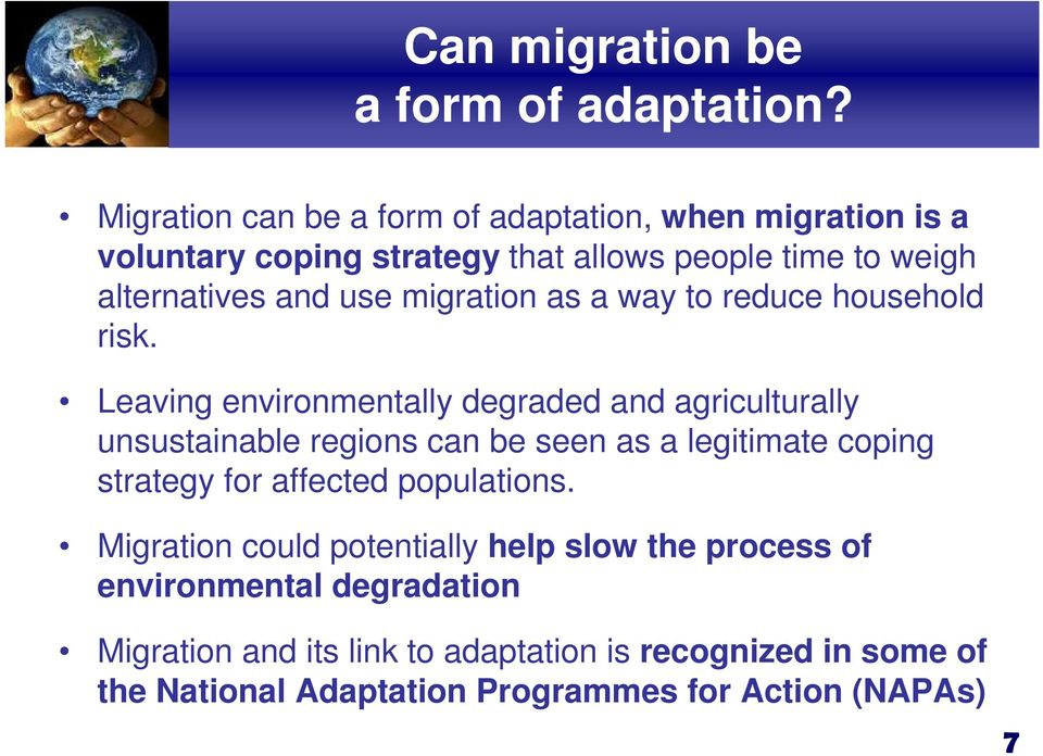 migration as a way to reduce household risk.