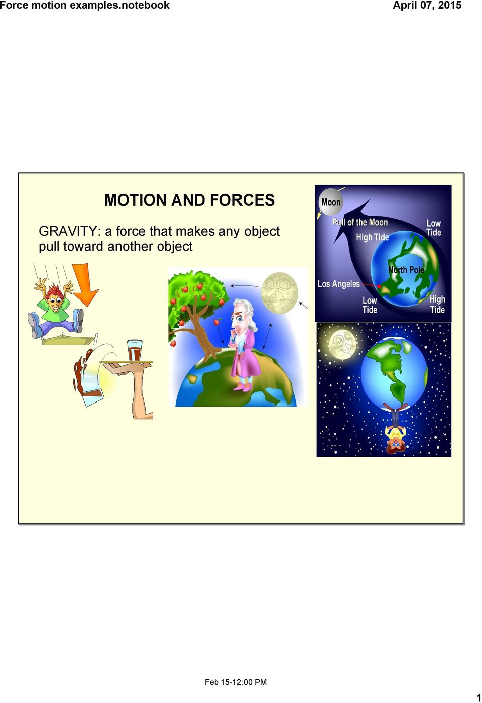 FORCES GRAVITY: a force that makes