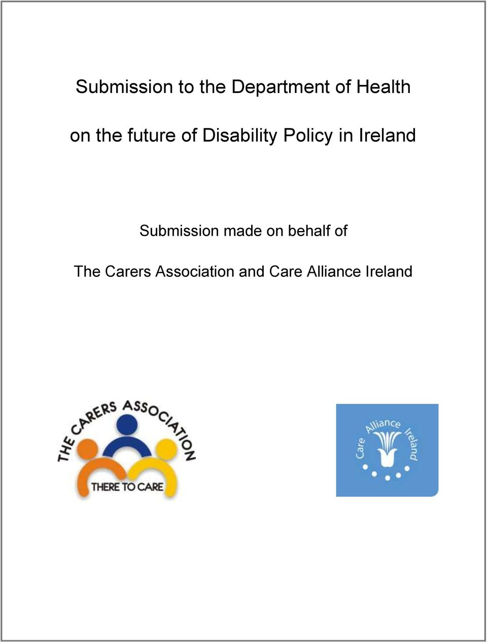 Ireland Submission made on behalf of The