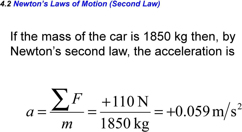 the car is 1850 kg then, by