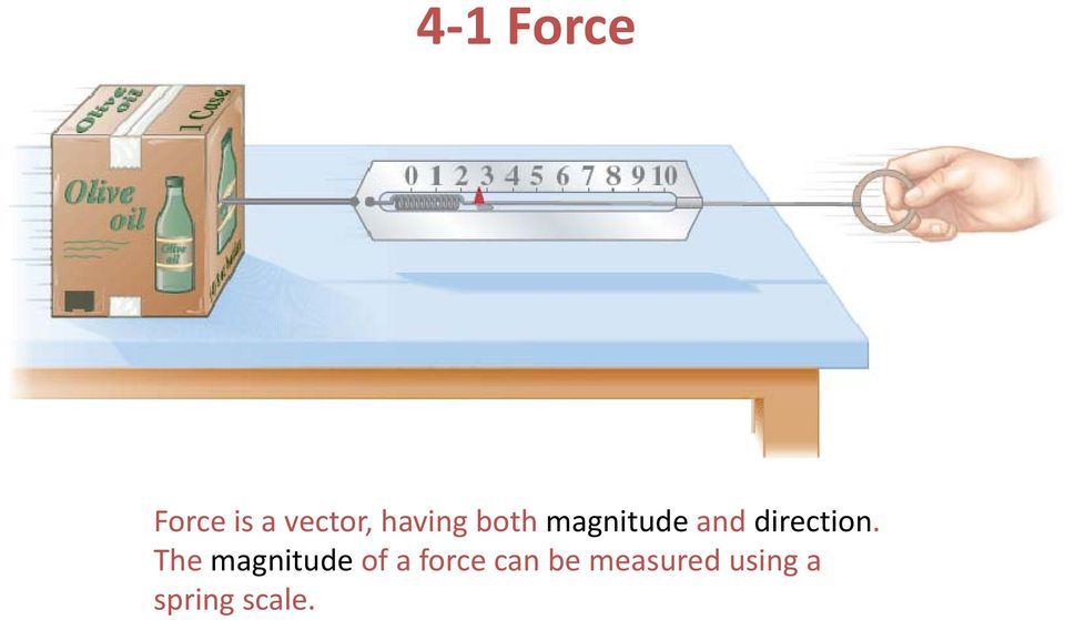 Force is a vector, having both  The magnitude