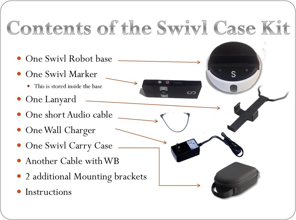 cable One Wall Charger One Swivl Carry Case Another