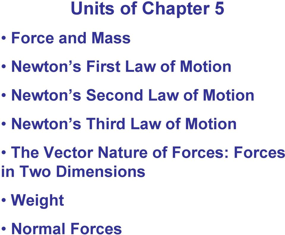 Newton s Third Law of Motion The Vector Nature