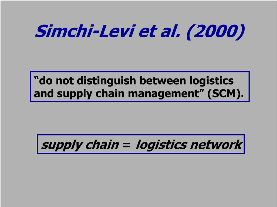 between logistics and supply