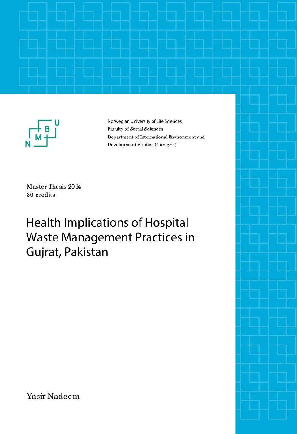Health Implications of Hospital Waste Management Practices in Gujrat