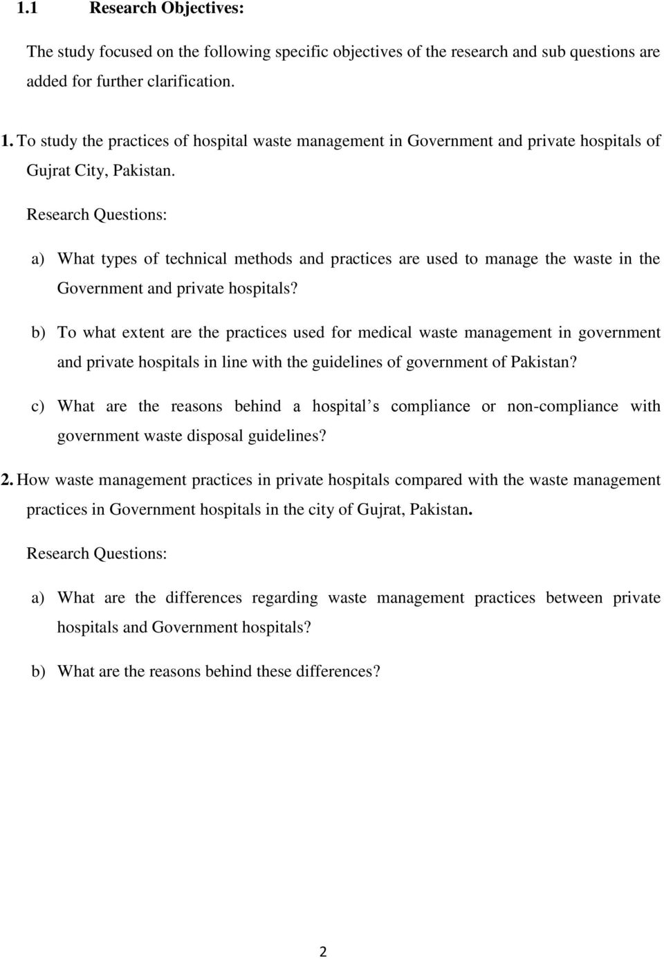 comparison between private hospital and government hospital