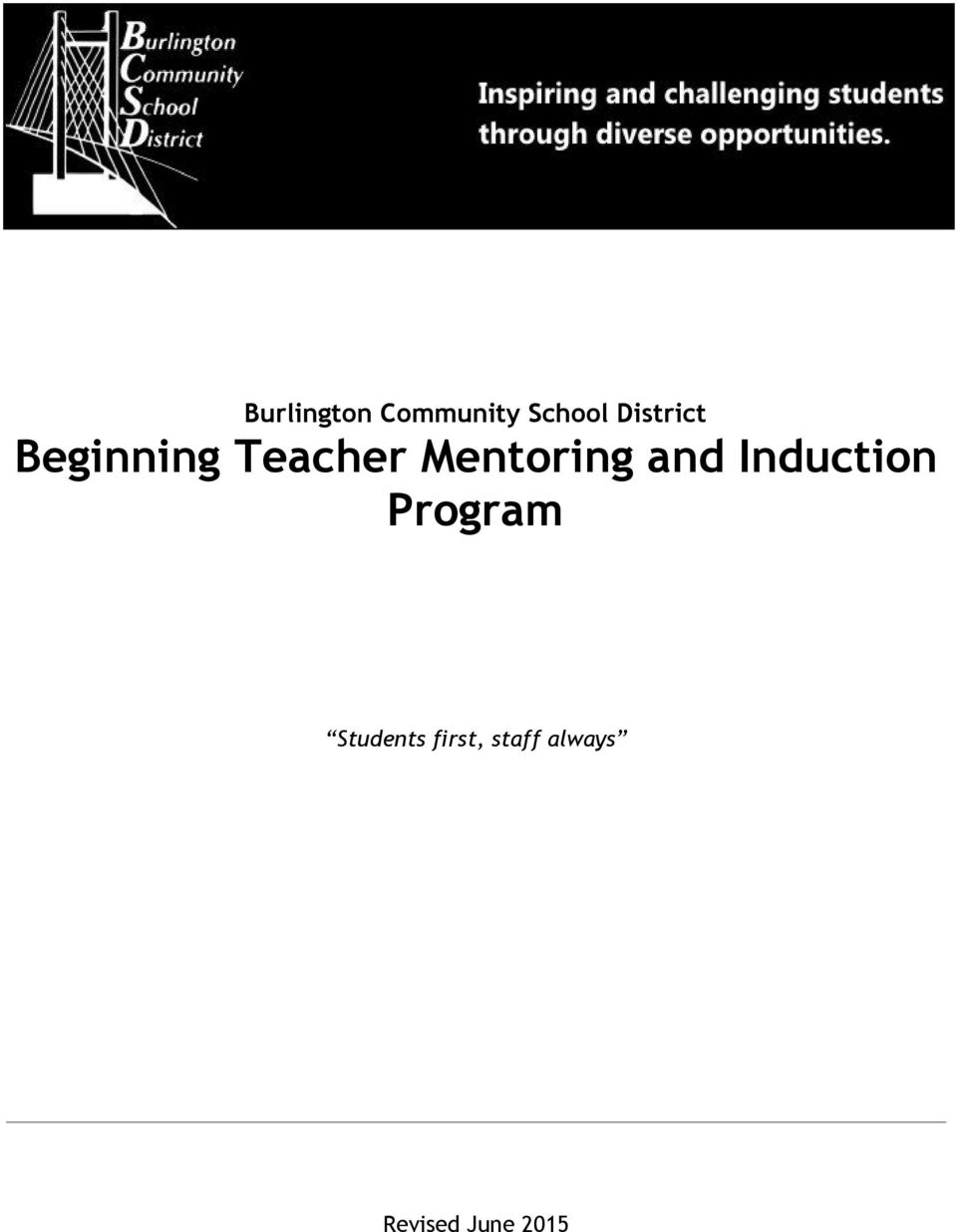 mentoring beginning teachers program handbook