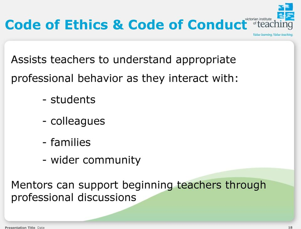 the code of ethics for teachers on how to deal with students Part 22, code of ethics for illinois educators, was written in response to a   process of developing the illinois professional teaching standards, which   premise that illinois educators must meet the educational needs of each student,  defines.