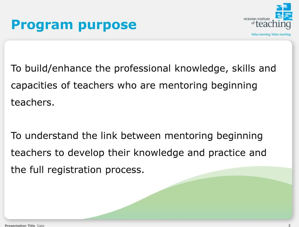 mentoring beginning teachers Mentoring beginning teachers (available face-to-face only) the module content is designed to develop your mentoring practice in support of beginning teachers and to.