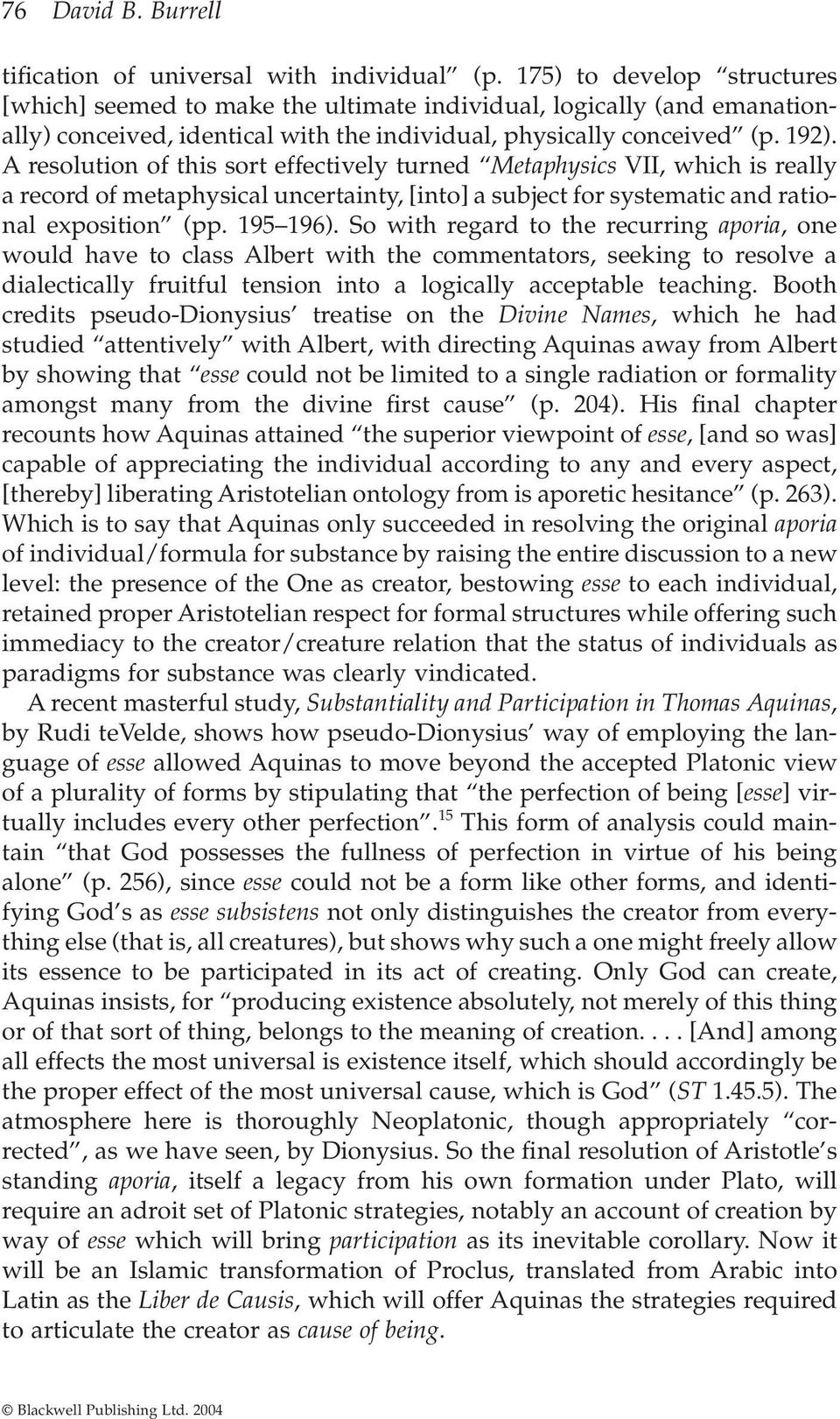 a critical analysis on the metaphysics of st thomas aquinas Introduction to the philosophy of st thomas aquinas, volume 4: metaphysics  metaphysics to the critical analysis of  philosophy of st thomas aquinas,.