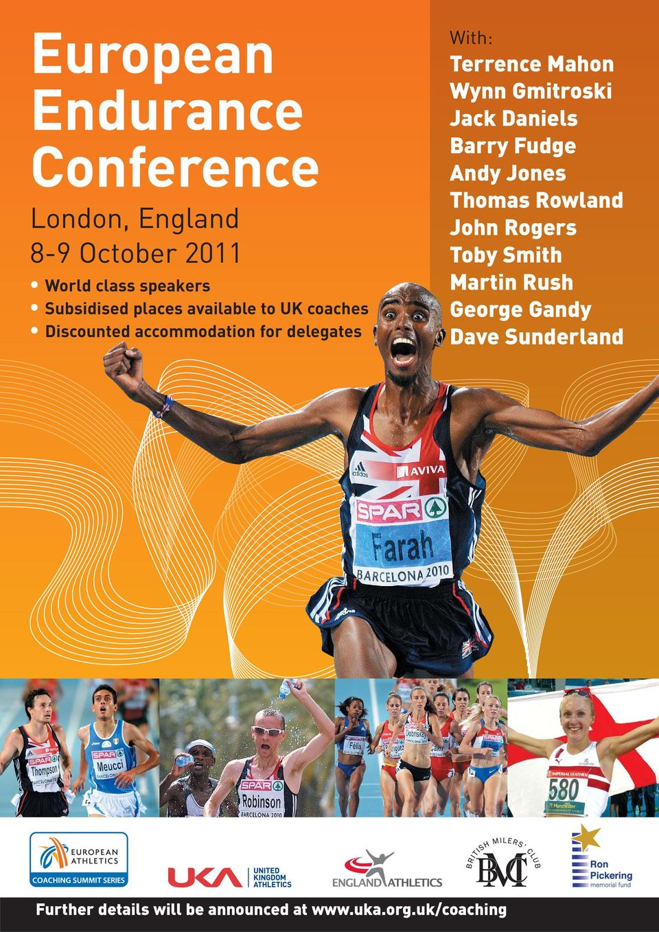 accommodation for delegates With: Barry Fudge Andy Jones John Rogers