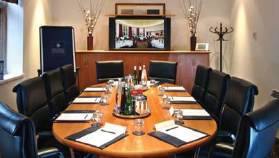 Meeting Rooms The Executive Boardroom Air conditioned and naturally lit, this stylish and private boardroom offers the latest in technology and comfort.