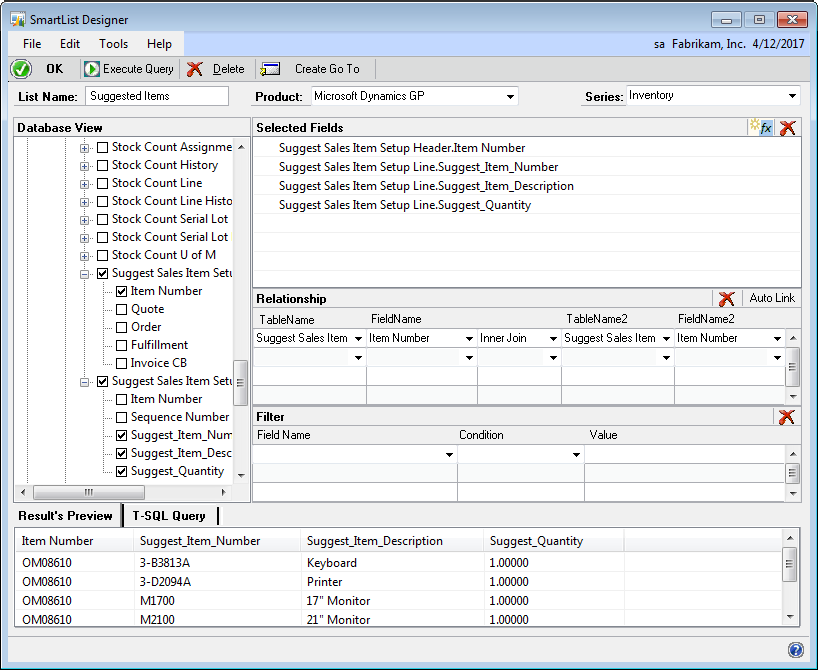 PART 5 REPORTING IN MICROSOFT DYNAMICS GP 9. Choose Auto Link to create a table relationship.