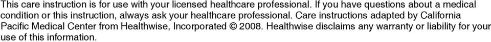 healthcare professional.