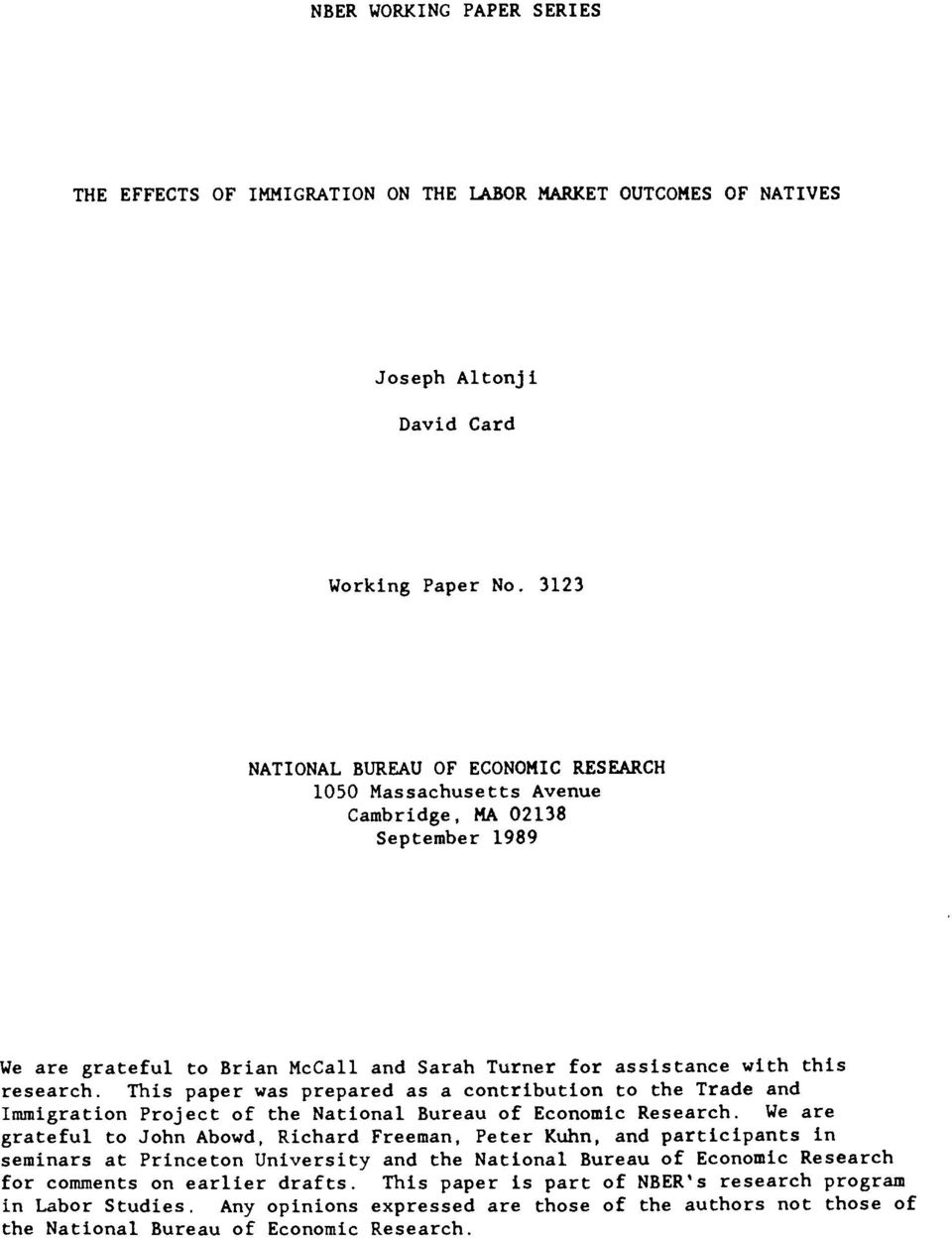 National bureau of economic research working paper 14587
