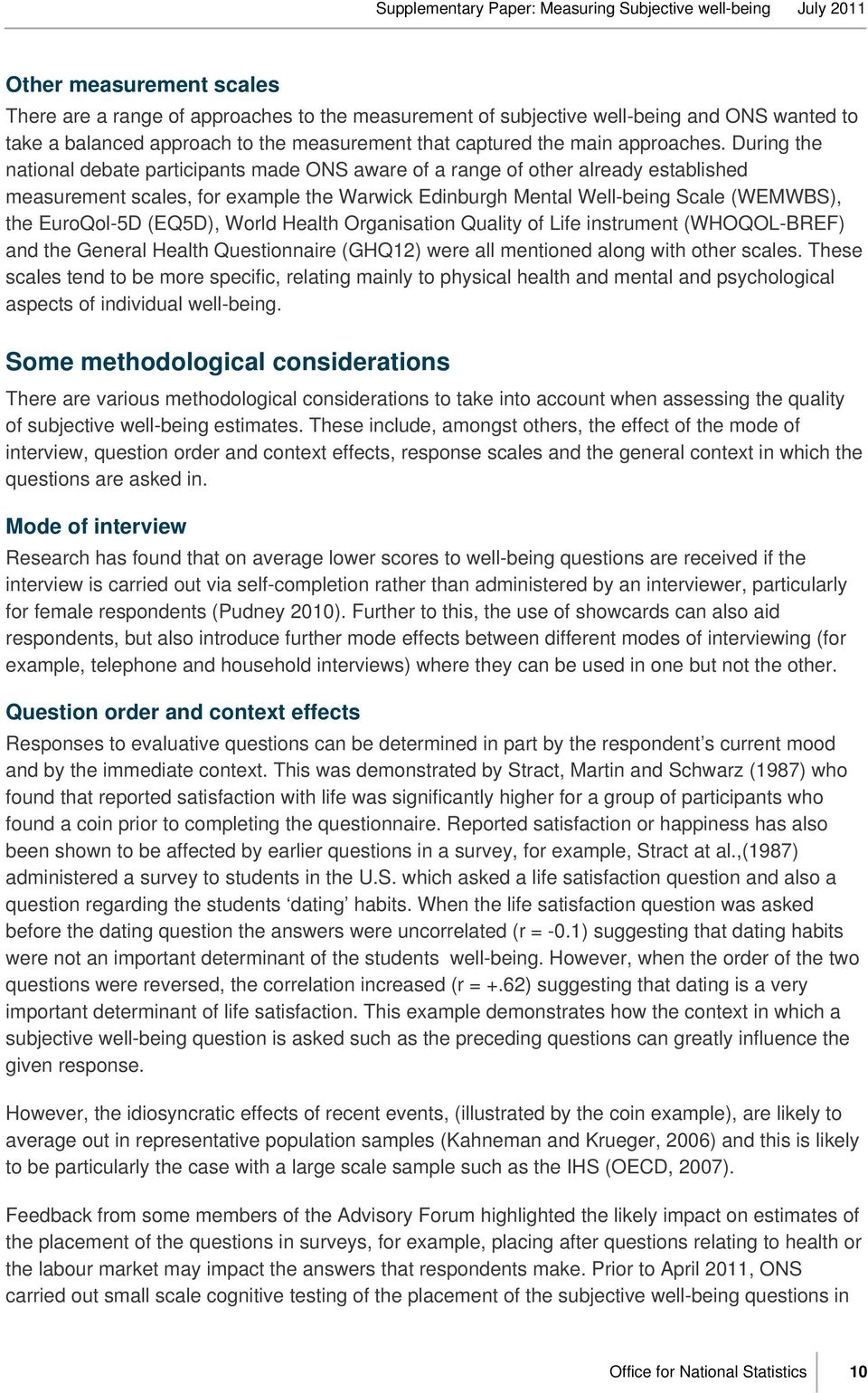 subjective well being questionnaire pdf
