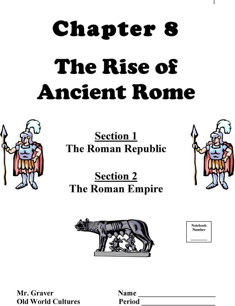 2 The Roman Empire Notebook Number Mr.