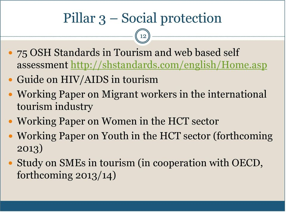 asp Guide on HIV/AIDS in tourism Working Paper on Migrant workers in the international tourism
