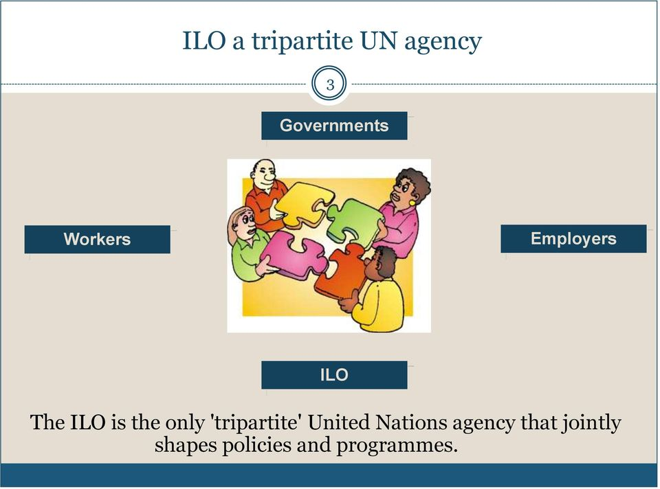 only 'tripartite' United Nations agency