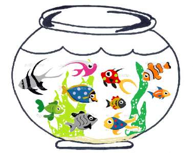 Fishy Bowls What you will need: Blank white paper or white construction paper Scissors Colored pencils, markers, etc. 1.