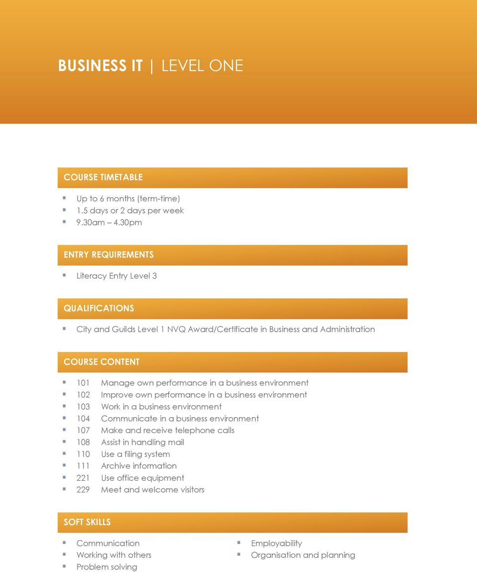 business admin level 1 ba 202 Study a bba in business administration at of business administration with: business entry requirements are defined at a higher level and the four-year ba.