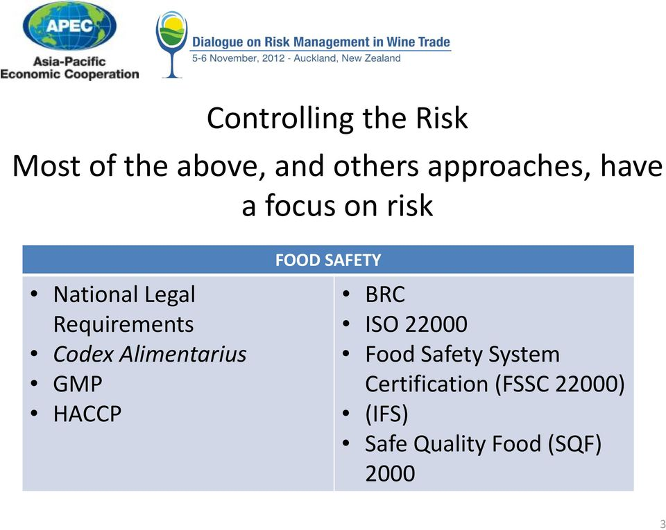 Alimentarius GMP HACCP FOOD SAFETY BRC ISO 22000 Food Safety