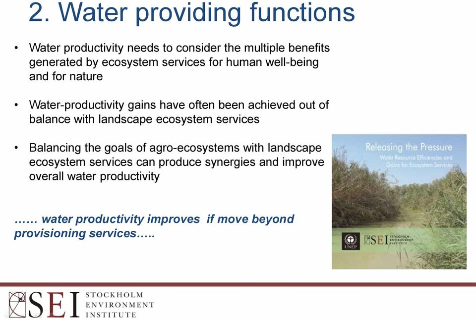 with landscape ecosystem services Balancing the goals of agro-ecosystems with landscape ecosystem services can
