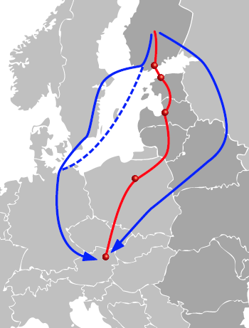Finland is an island in EU Alternative routes in use between European and Finnish markets 1.