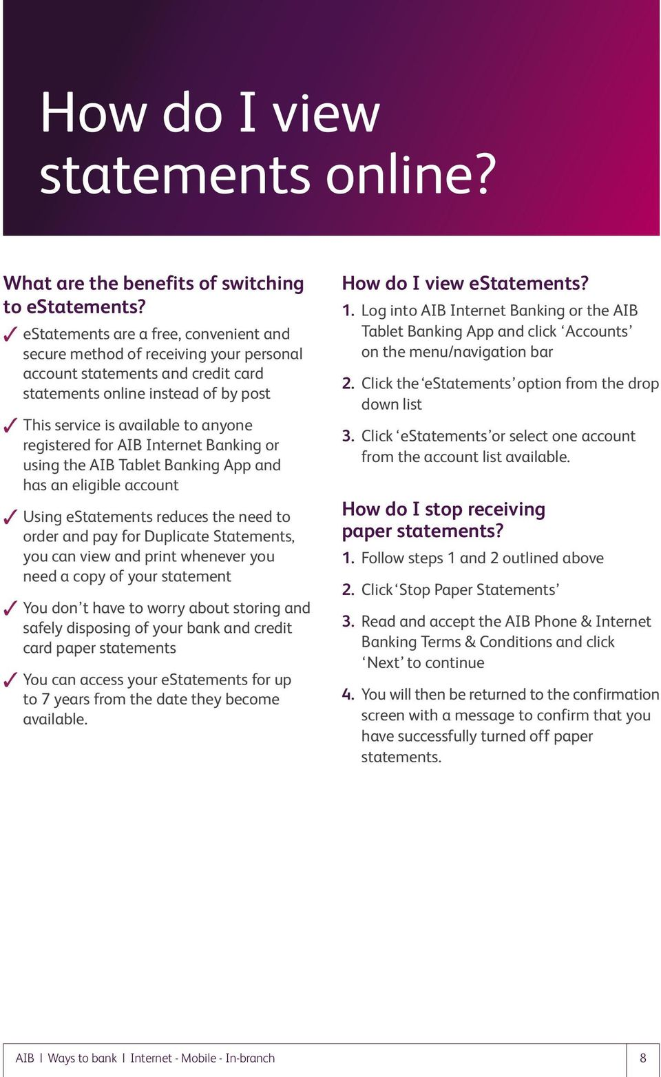 Your money 247 access with aib pdf for aib internet banking or using the aib tablet banking app and has an eligible account reheart Gallery