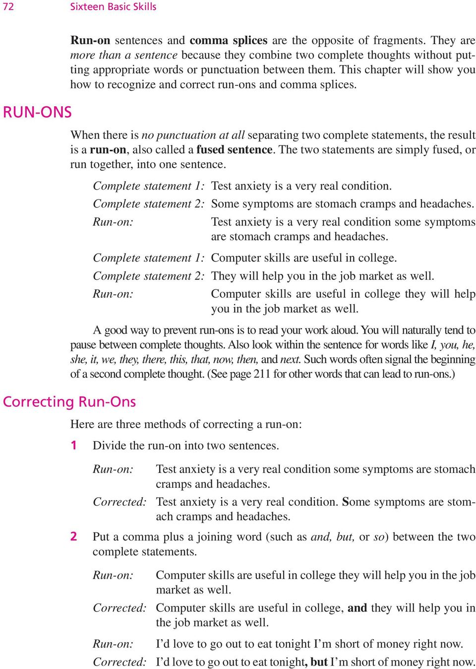 6 Run Ons And Comma Splices Pdf