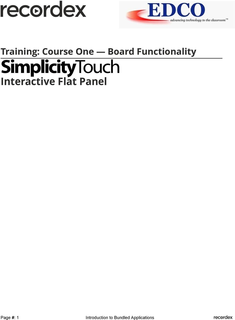 SimplicityTouch
