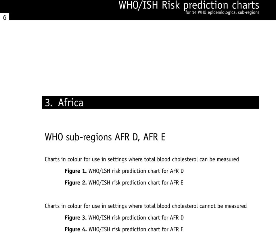 WHO/ISH risk prediction chart for AFR E Charts in colour for use in settings where total blood