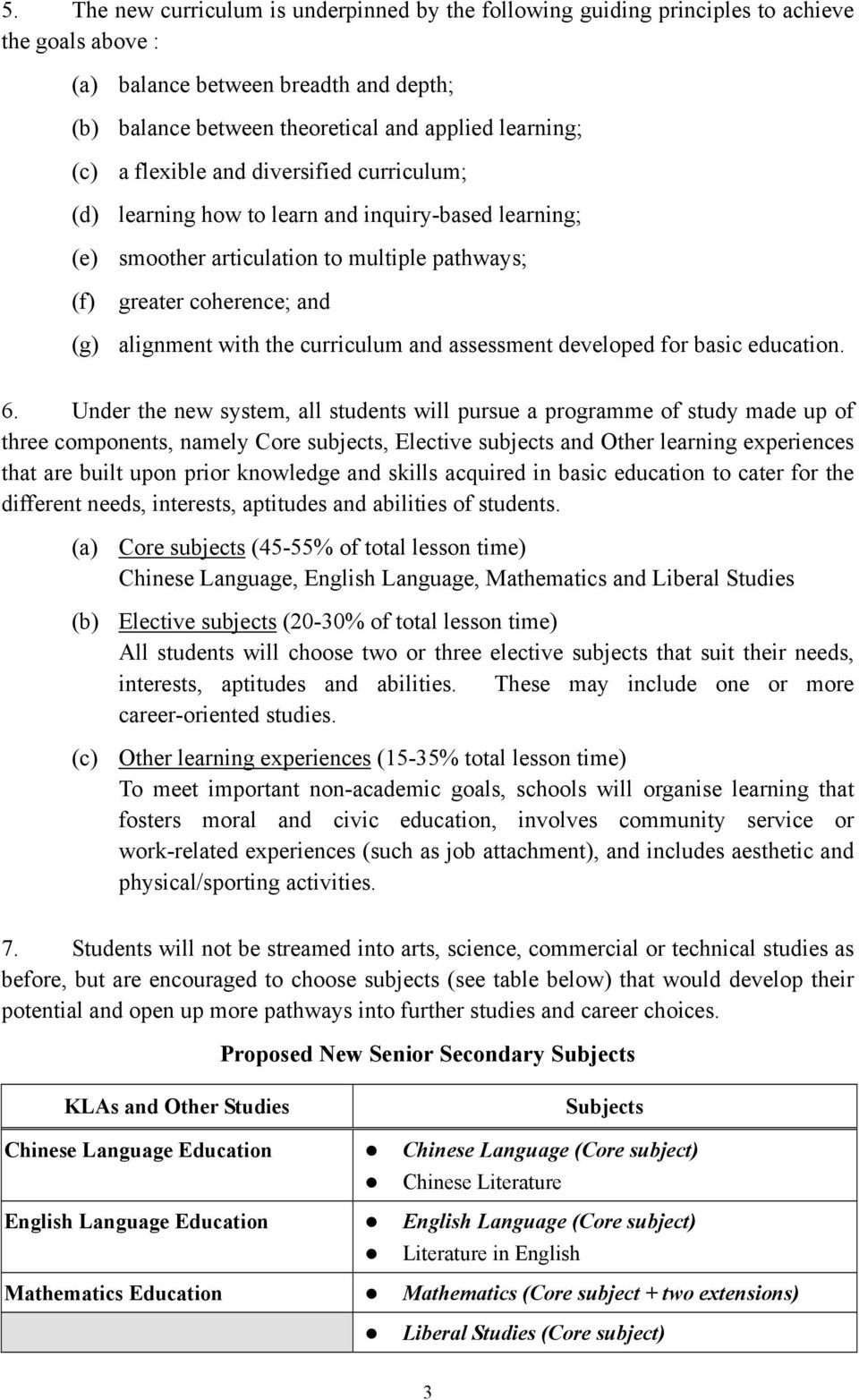 curriculum and assessment developed for basic education. 6.