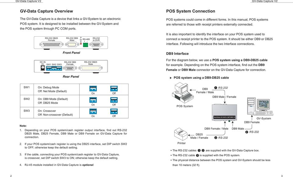 In this manual, POS systems are referred to those with receipt printers externally connected.