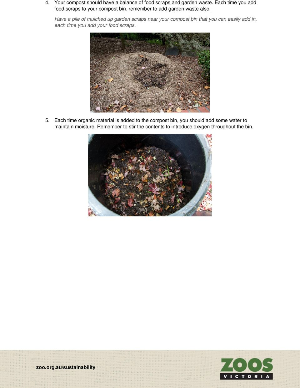 Have a pile of mulched up garden scraps near your compost bin that you can easily add in, each time you add your