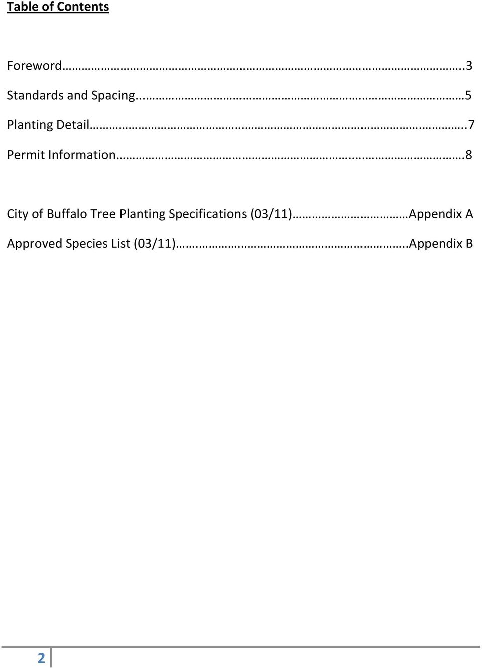 ..8 City of Buffalo Tree Planting Specifications